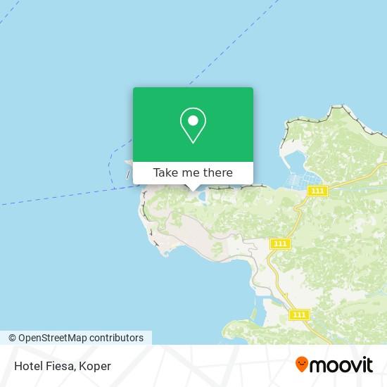 Hotel Fiesa map