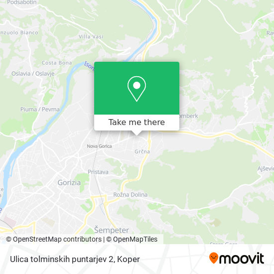 Ulica tolminskih puntarjev 2 map