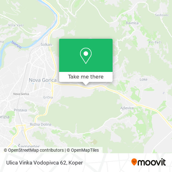Ulica Vinka Vodopivca 62 map