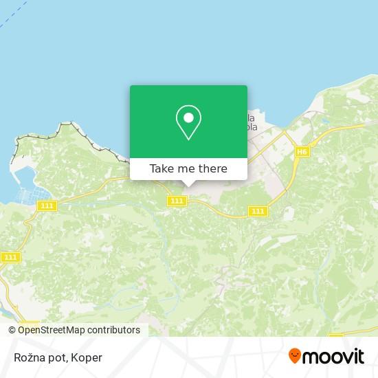 Rožna pot map