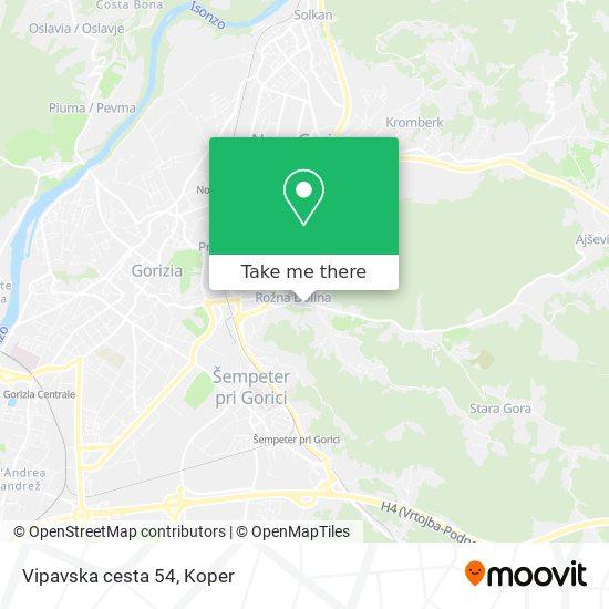 Vipavska cesta 54 map