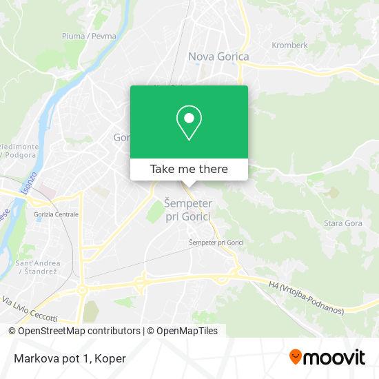 Markova pot 1 map