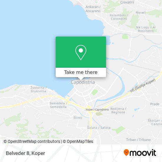 Belveder 8 map