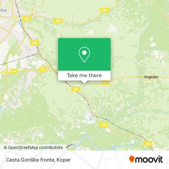 Cesta Goriške fronte map