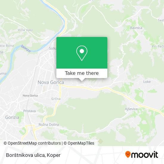 Borštnikova ulica map