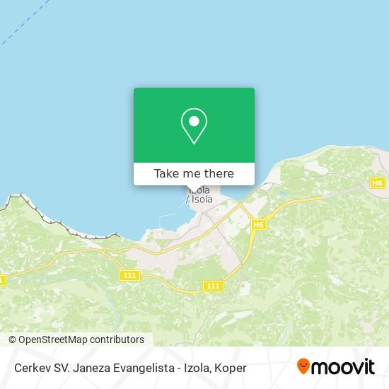 Cerkev SV. Janeza Evangelista - Izola map