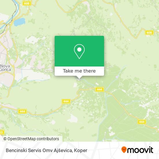 Bencinski Servis Omv Ajševica map