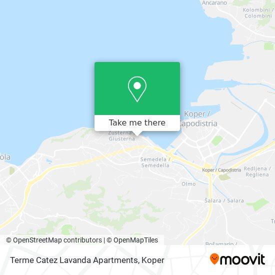 Terme Catez Lavanda Apartments map
