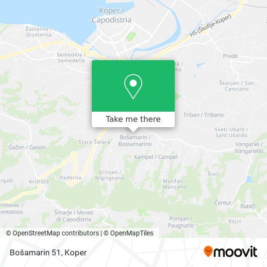 Bošamarin 51 map