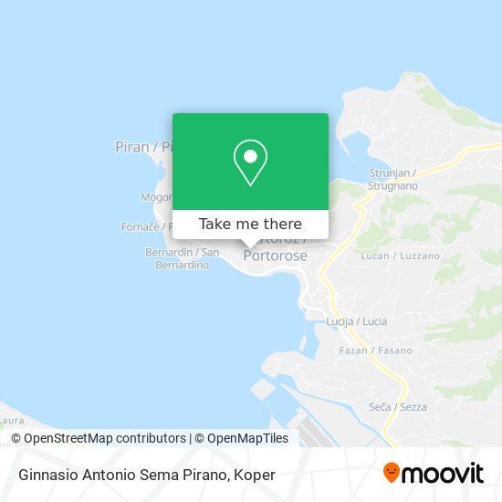 Ginnasio Antonio Sema Pirano map