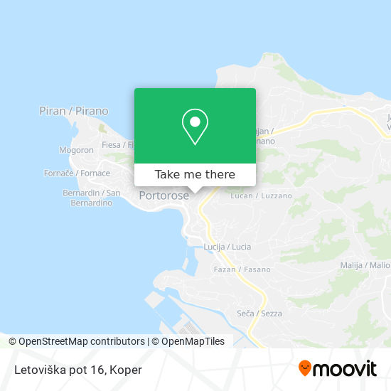 Letoviška pot 16 map