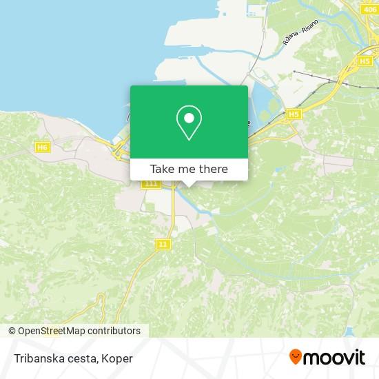 Tribanska cesta map