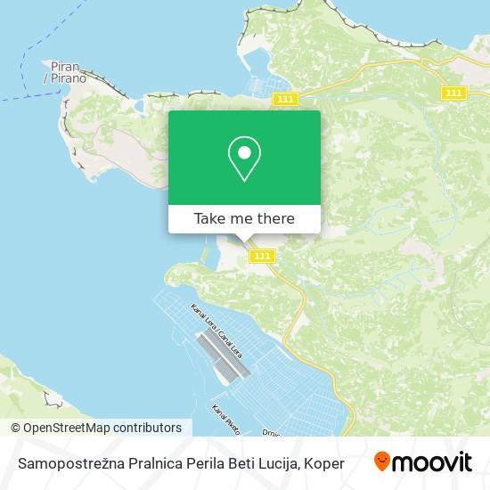 Samopostrežna Pralnica Perila Beti Lucija map