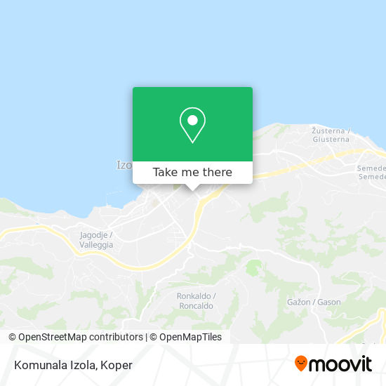 Komunala Izola map