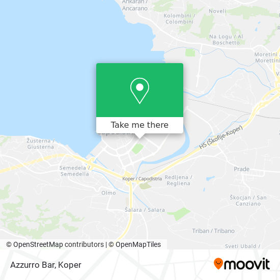 Azzurro Bar map
