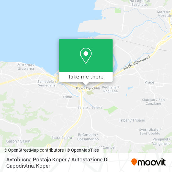 Avtobusna Postaja Koper map