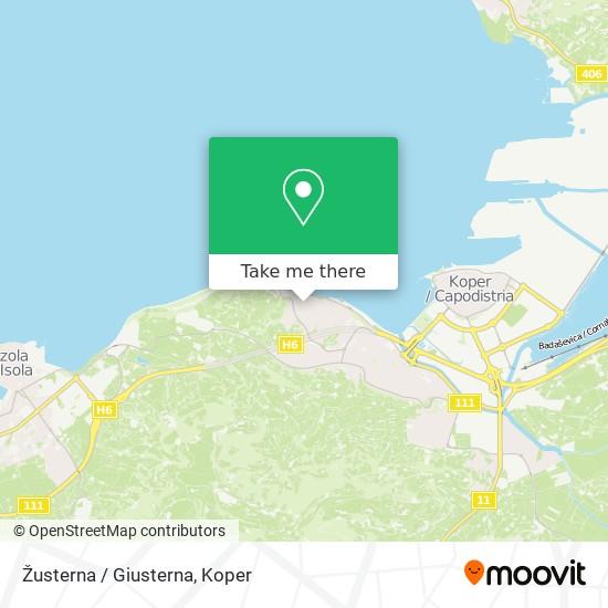Žusterna / Giusterna map
