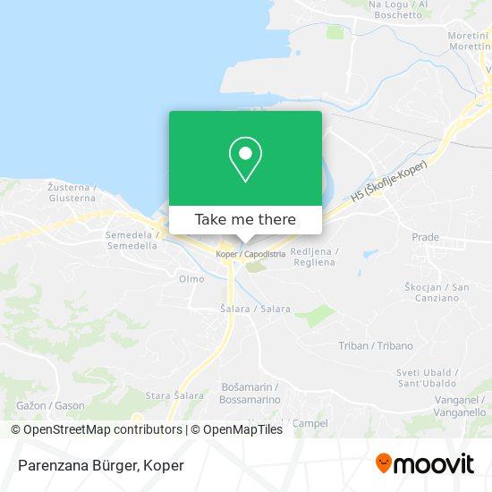 Parenzana Bürger map