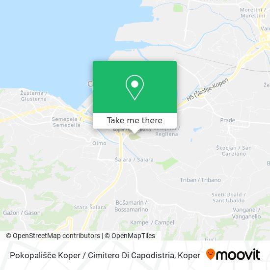 Pokopališče Koper map