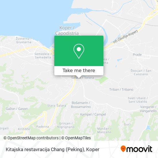 Kitajska restavracija Chang (Peking) map