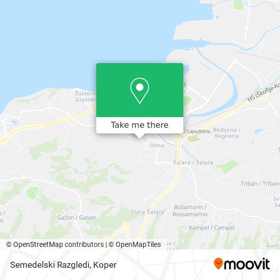 Semedelski Razgledi map