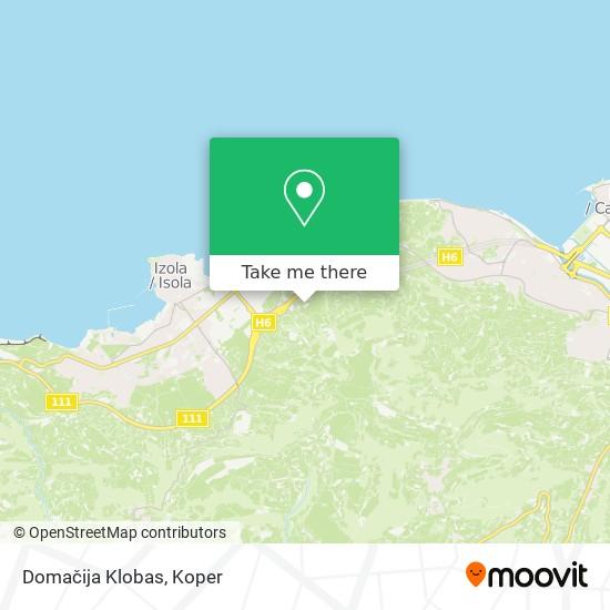Domačija Klobas map