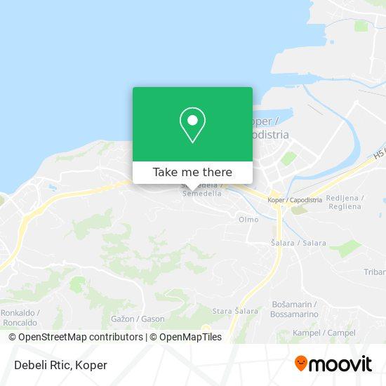 Debeli Rtic map