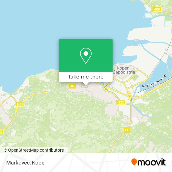 Markovec map
