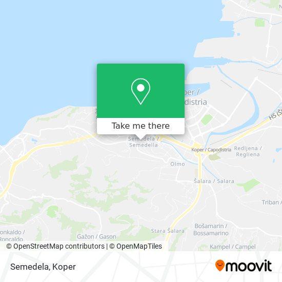 Semedela map