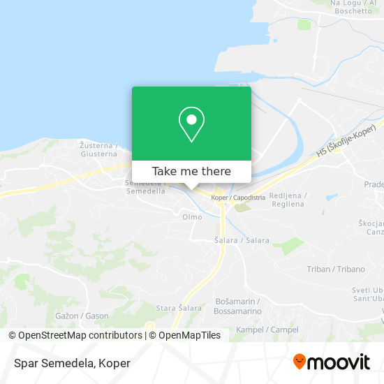 Spar Semedela map