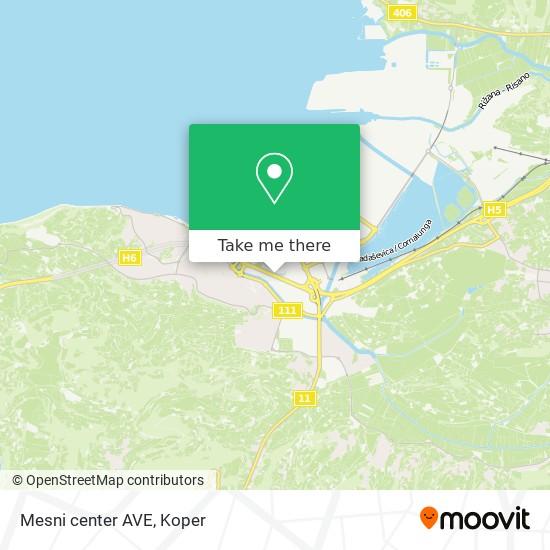 Mesni center AVE map