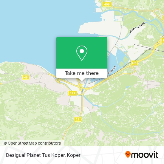 Desigual Planet Tus Koper map