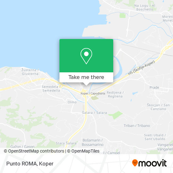 Punto ROMA map