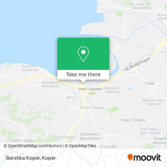 Bershka Koper map