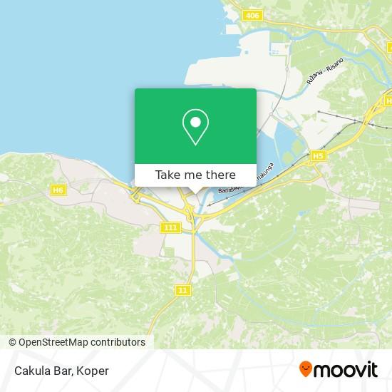 Cakula Bar map