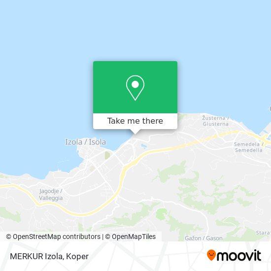 MERKUR Izola map