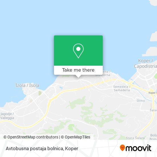 Avtobusna postaja bolnica map