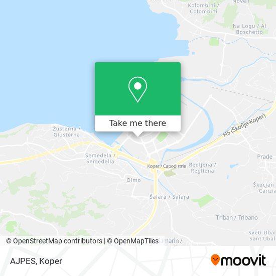 AJPES map