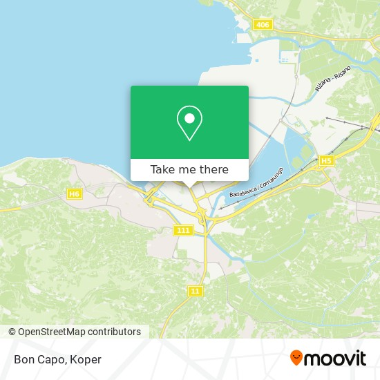 Bon Capo map