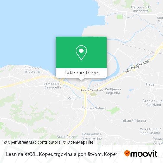 Lesnina XXXL, Koper, trgovina s pohištvom map