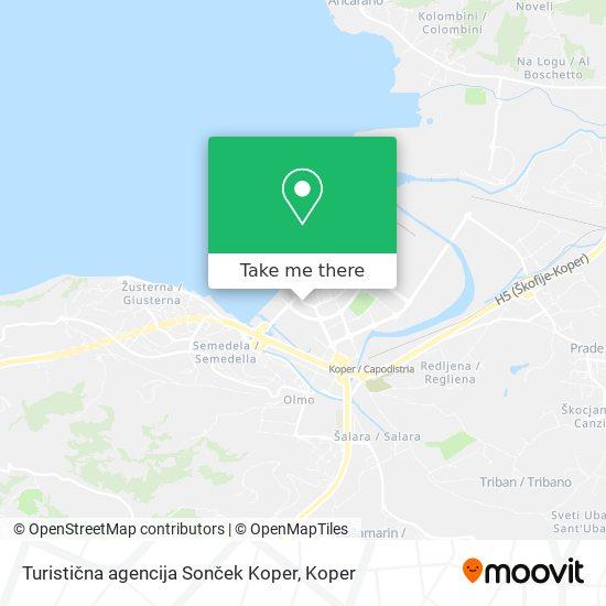Turistična agencija Sonček Koper map