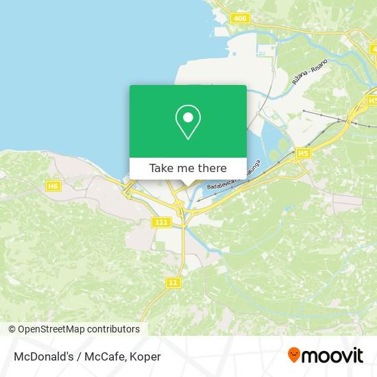 McDonald's / McCafe map