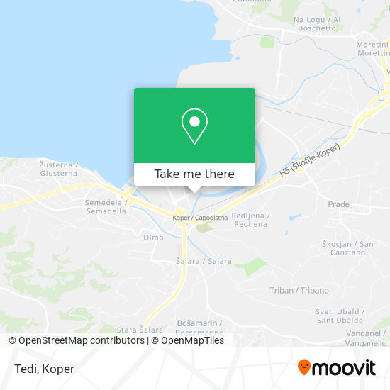 Tedi map