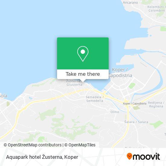 Aquapark hotel Žusterna map