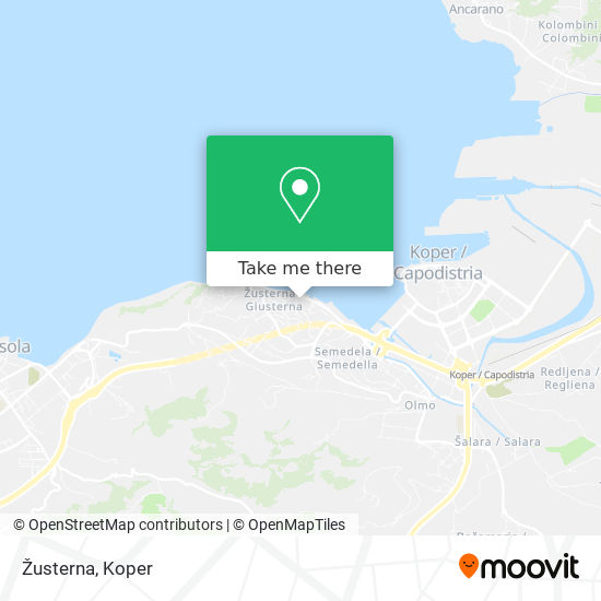 Žusterna map
