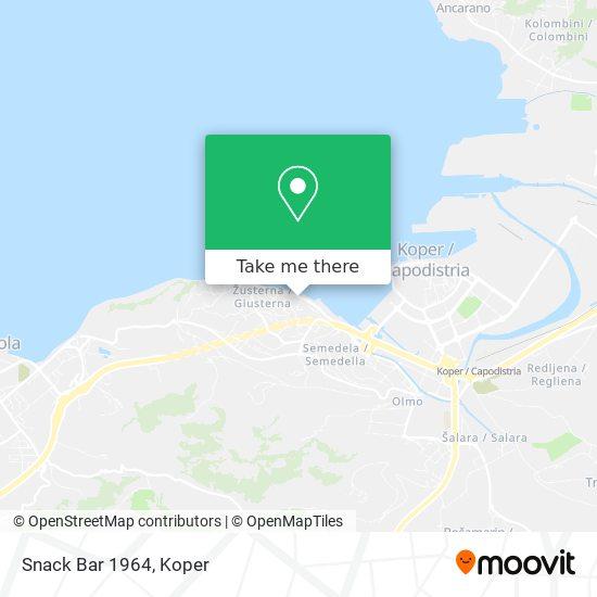 Snack Bar 1964 map