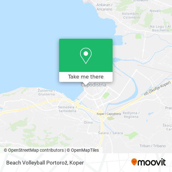 Beach Volleyball Portorož map