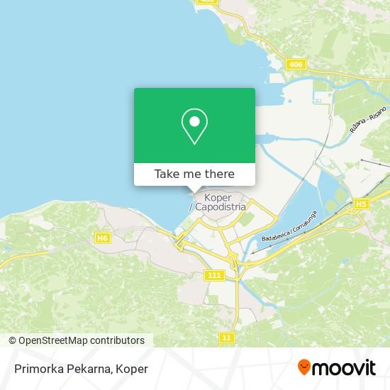 Primorka Pekarna map