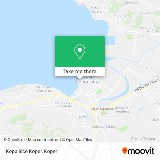 Kopališče Koper map