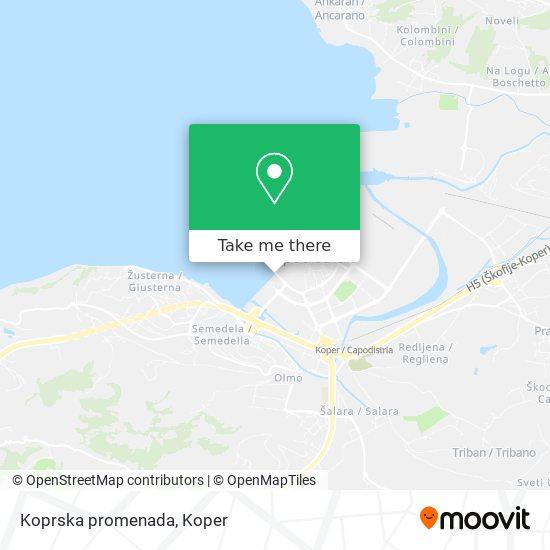 Koprska promenada map